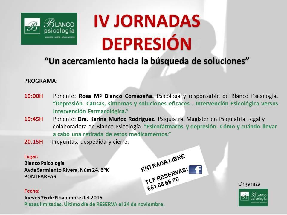 IV jornadas Depresión en Ponteareas blanco psicologia